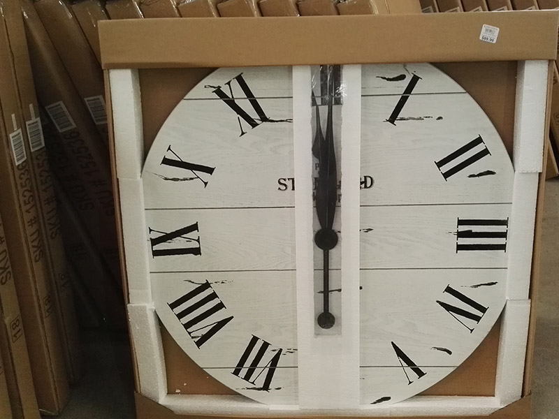 careful packing to protect the 36 inches open face clock